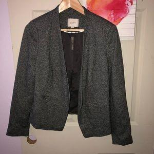 Loft Ann Taylor gray blazer 10 petite